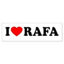 I (Heart) Rafa Car Sticker