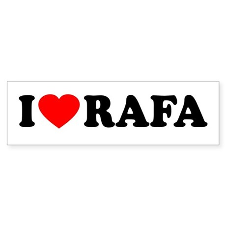 I (Heart) Rafa Sticker (Bumper)