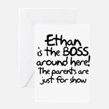 Ethan is the Boss Greeting Card