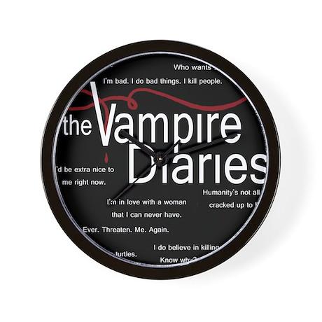 Vampire Diaries Quotes Wall Clock