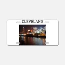 cleveland gifts t-shirts pres Aluminum License Pla