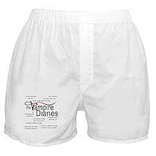 Vampire Diaries Quotes Boxer Shorts