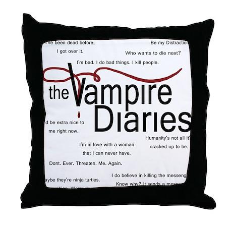 Vampire Diaries Quotes Throw Pillow