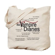 Vampire Diaries Quotes Tote Bag