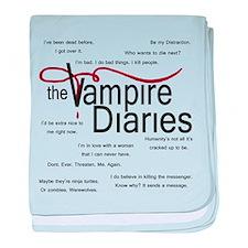 Vampire Diaries Quotes baby blanket