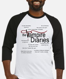 Vampire Diaries Quotes Baseball Jersey