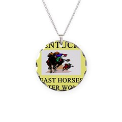 kentucky derby gifts t-shirts Necklace Circle Char