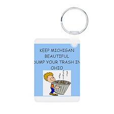keep michigan beautiful Keychains