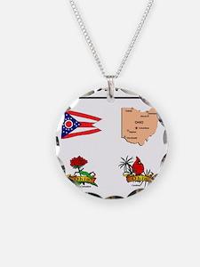 stae of ohio design Necklace