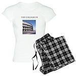 the colisseum rome italy gift Women's Light Pajama