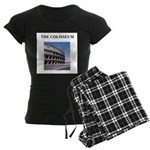 the colisseum rome italy gift Women's Dark Pajamas