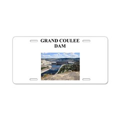 grand coulee dam gifts and t- Aluminum License Pla