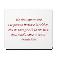 Proverbs 22:16 Mousepad