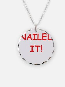 funny geek joke Necklace Circle Charm