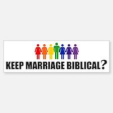 BIBLICAL? Bumper Bumper Bumper Sticker