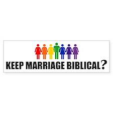BIBLICAL? Bumper Bumper Sticker