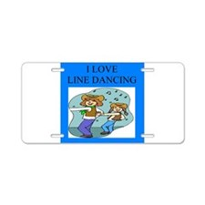 line dancing gifts and t-shir Aluminum License Pla