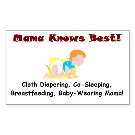 Attached Mama Rectangle Sticker