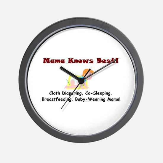 Attached Mama Wall Clock