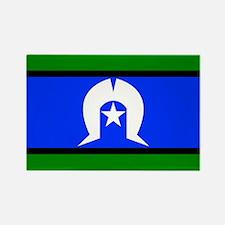 Torres Strait Flag Rectangle Magnet