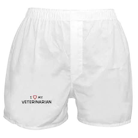 I Love Veterinaarian Boxer Shorts