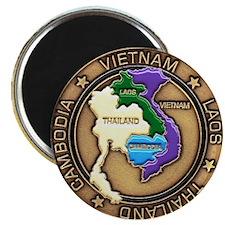 VIETNAM, LAOS, CAMBODIA, THAILAND Magnet