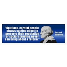SUSAN B. ANTHONY Bumper Bumper Sticker