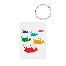 Fainting Goats Rainbow Keychains