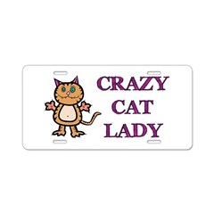 Crazy Cat Lady Aluminum License Plate