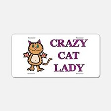Crazy Cat Lady Aluminum License Plate