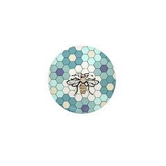 Honeybee & G'mothers Flowers Mini Button