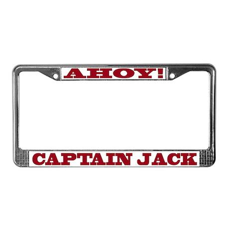 Captain Jack License Plate Frame