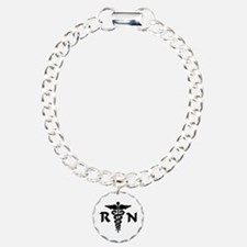 RN Medical Symbol Charm Bracelet, One Charm
