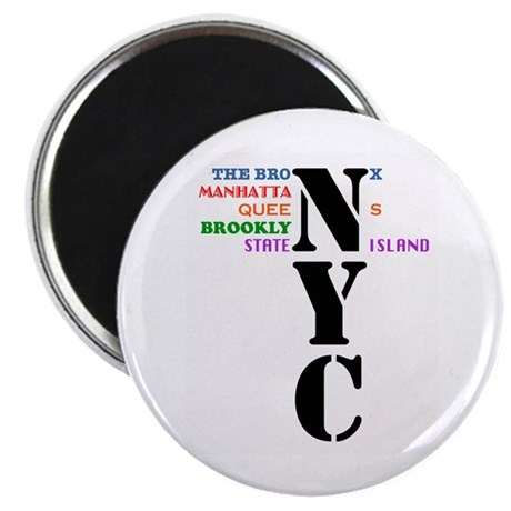 "NYC Big Apple All-Stars 2.25"" Magnet (10 pack)"