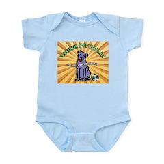 Think Pit Bull! Infant Bodysuit