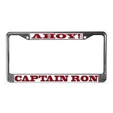 Captain Ron License Plate Frame
