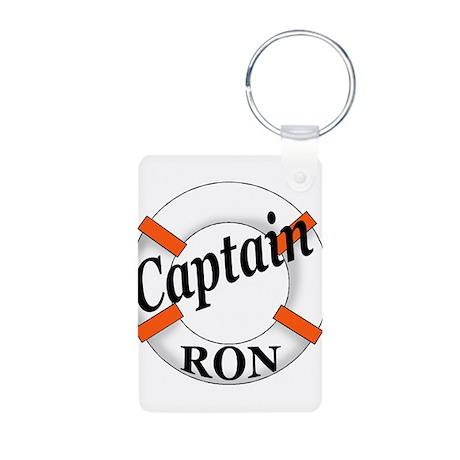 Captain Ron Aluminum Photo Keychain
