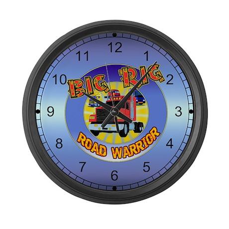 Big Rig Trucker Large Wall Clock