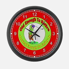 Retirement Golf Large Wall Clock