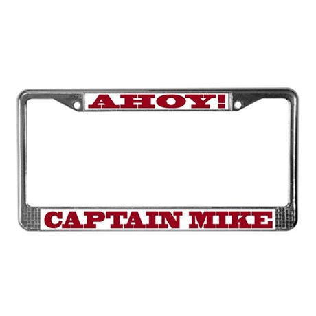 Captain Mike License Plate Frame