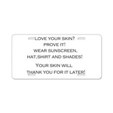 Love Your Skin? Aluminum License Plate
