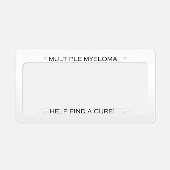 MM Find a Cure! License Plate Holder