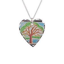 Oak Lea Pine Buttons, Magnets Necklace