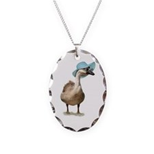 Blue Hat Goose by Gravityx9 Necklace