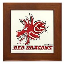 Jersey Red Dragons Framed Tile