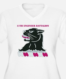 DUI - 11th Engineer Bn with Text T-Shirt