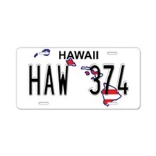HI USA Aluminum License Plate