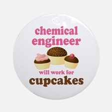 Funny Chemical Engineer Ornament (Round)