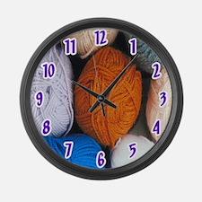 Balls of Yarn Large Wall Clock