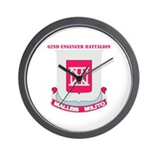DUI - 62nd Engineer Bn with Text Wall Clock